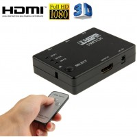 1080p Full HD 3 Port HDMI Switch with Remote Control for HDTV PS3 DVD