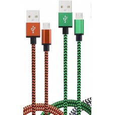 Micro USB Cable Nylon Braided 1M